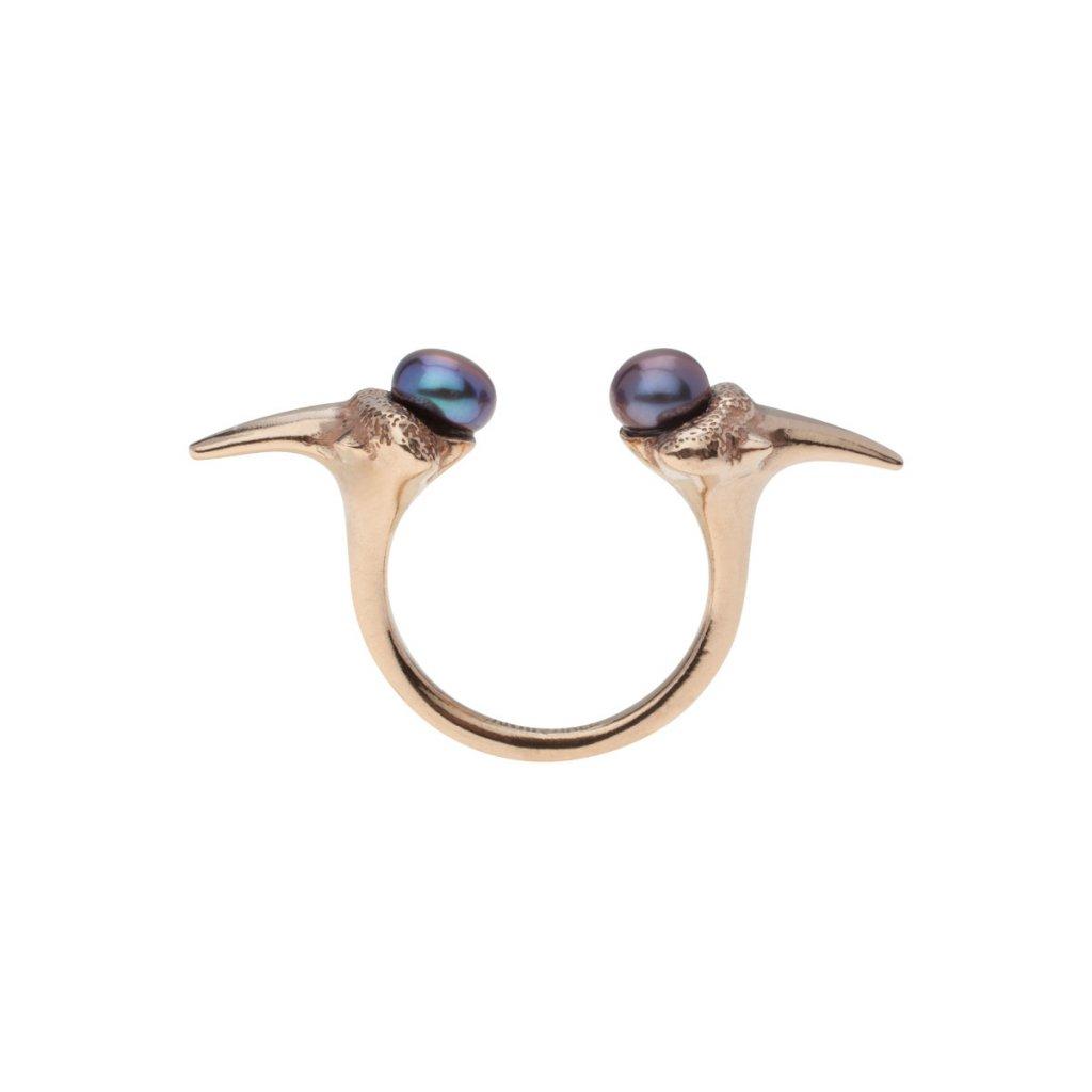 Zambezi pearl ring-gold