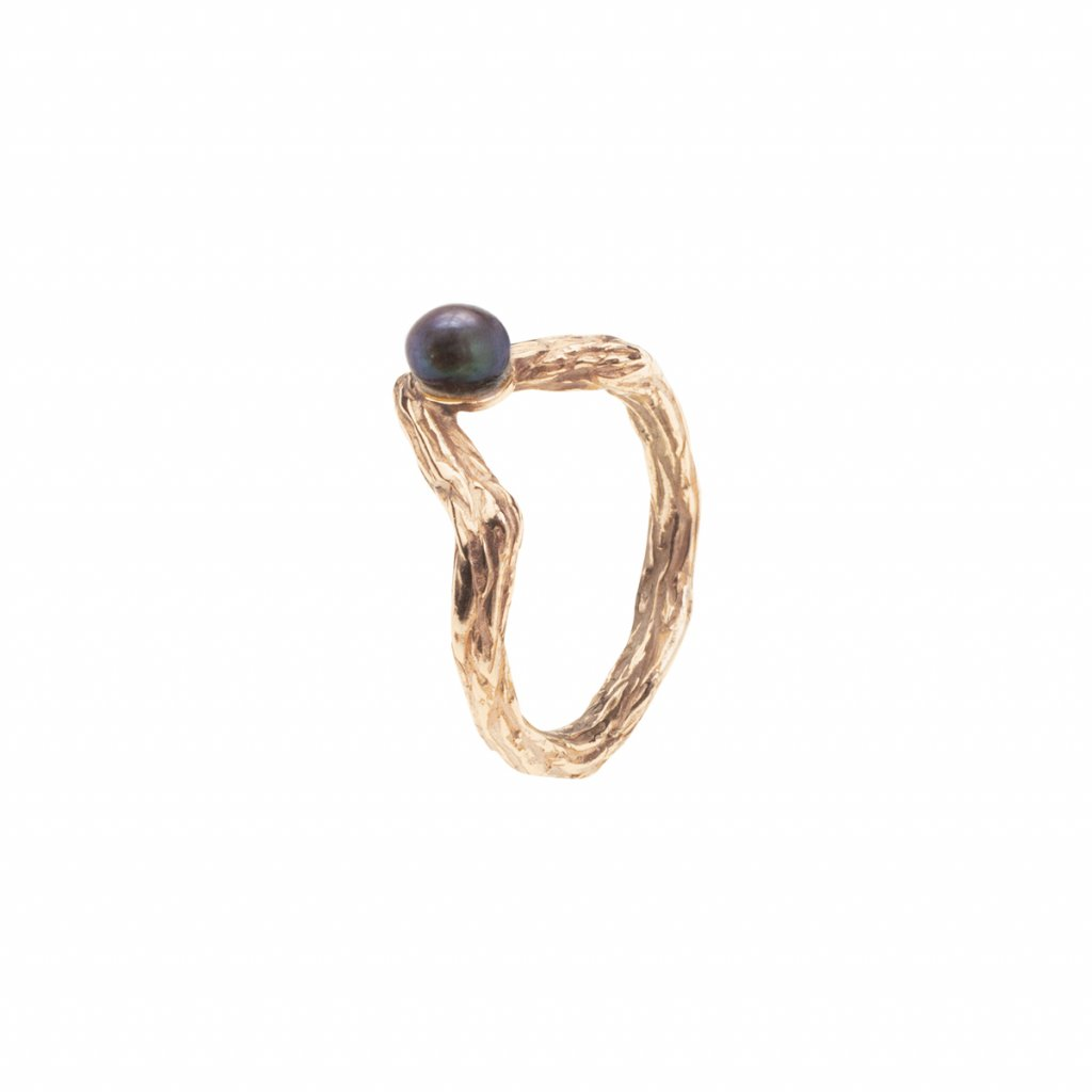 Small tip ring-gold