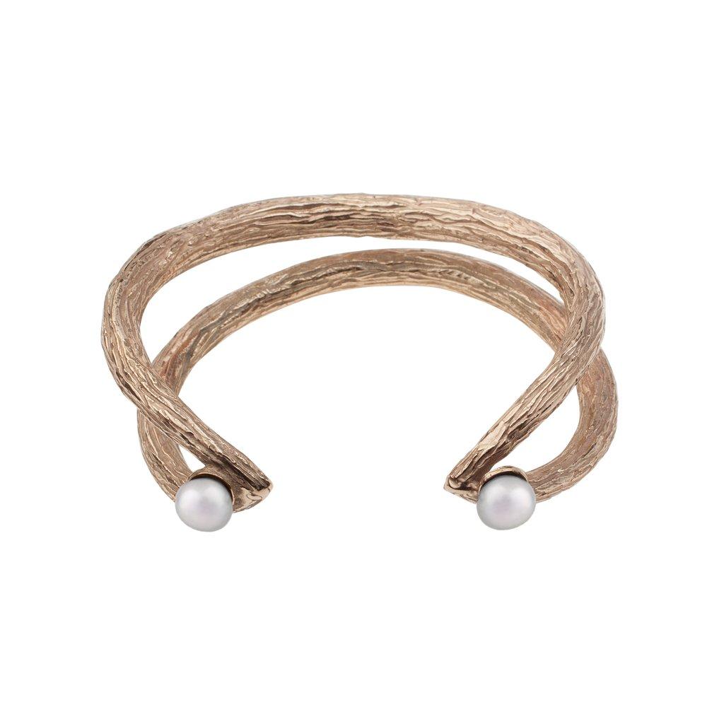 Tip pearl bracelet-gold