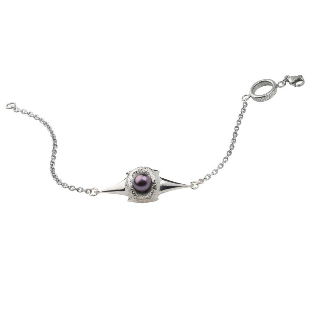 Blacktip chain bracelet-silver