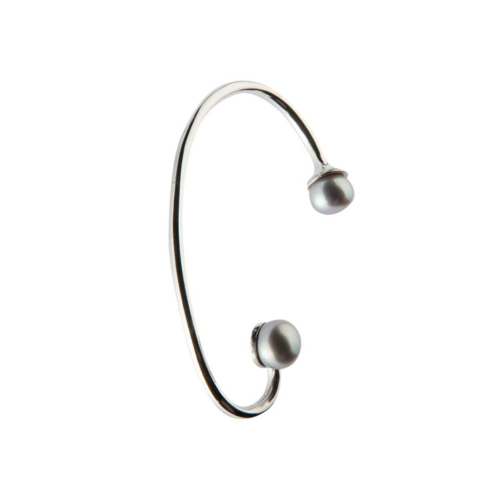 Pearl earcuff-silver