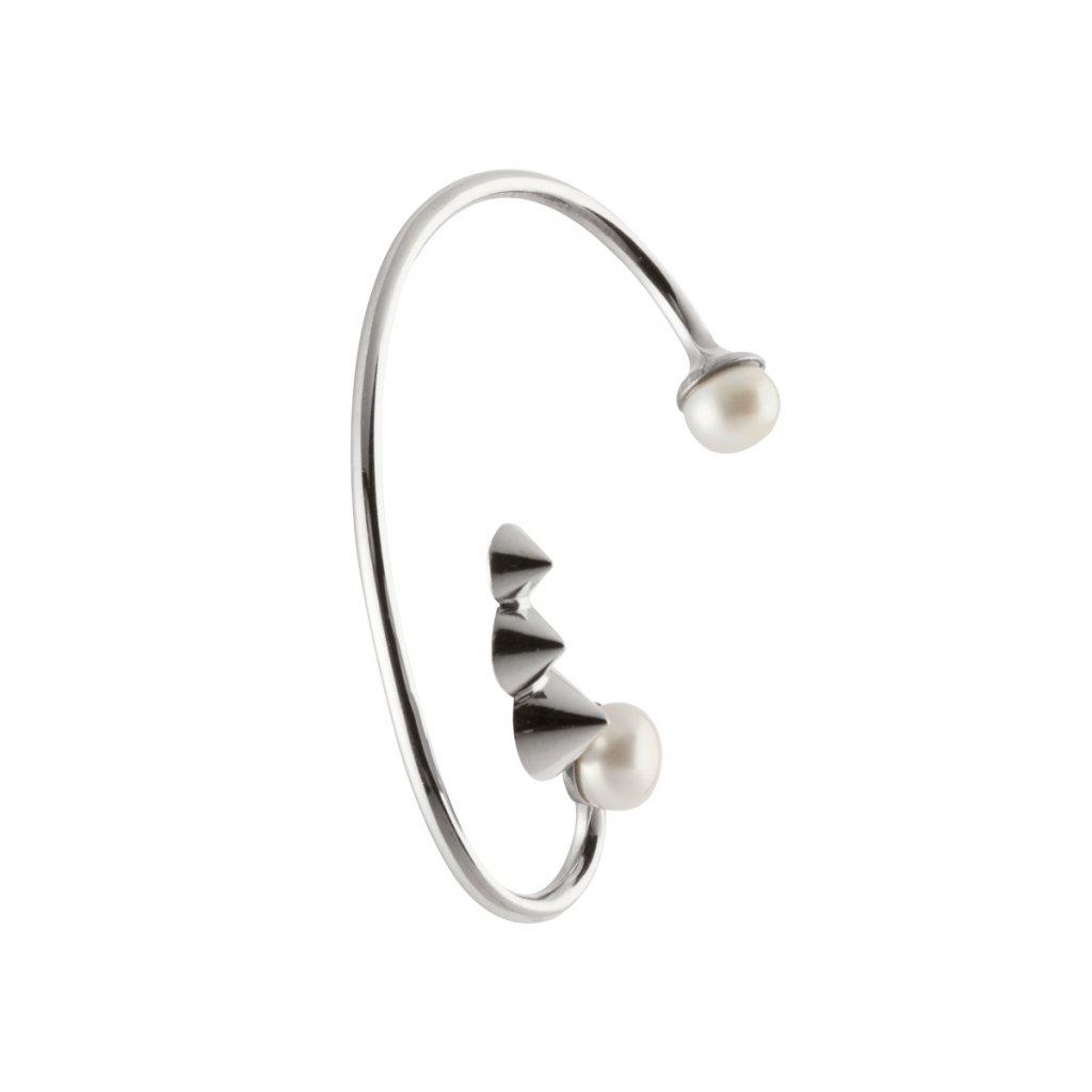 Cone studs earcuff-silver