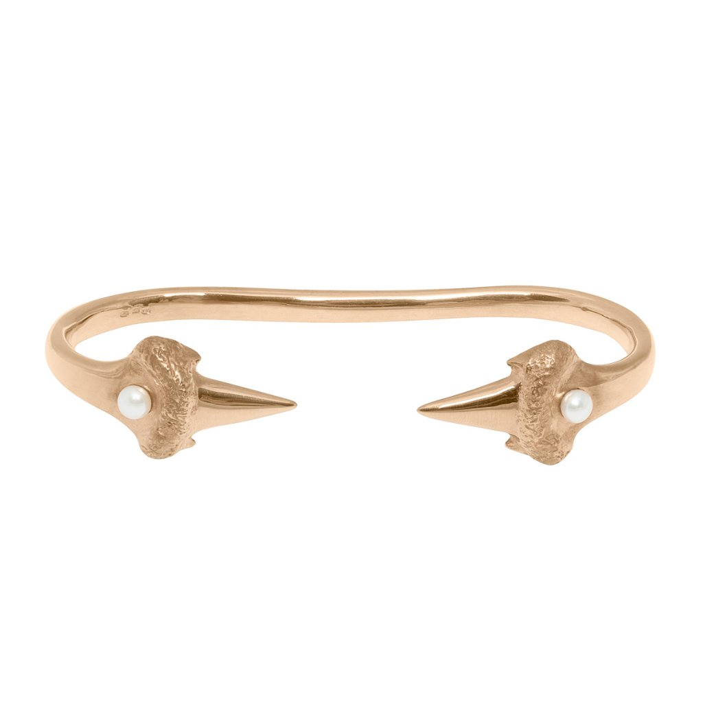 Blacktip palm bracelet - gold-plated silver