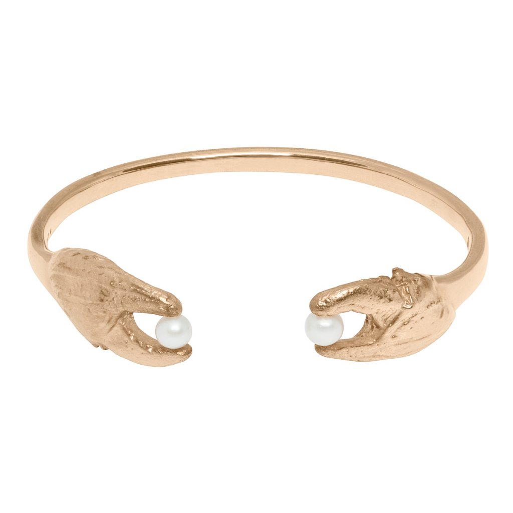Crab bracelet - gold-plated silver