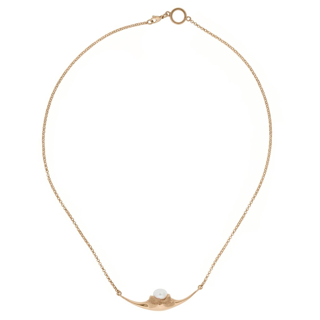 Fang necklace - gold-plated silver