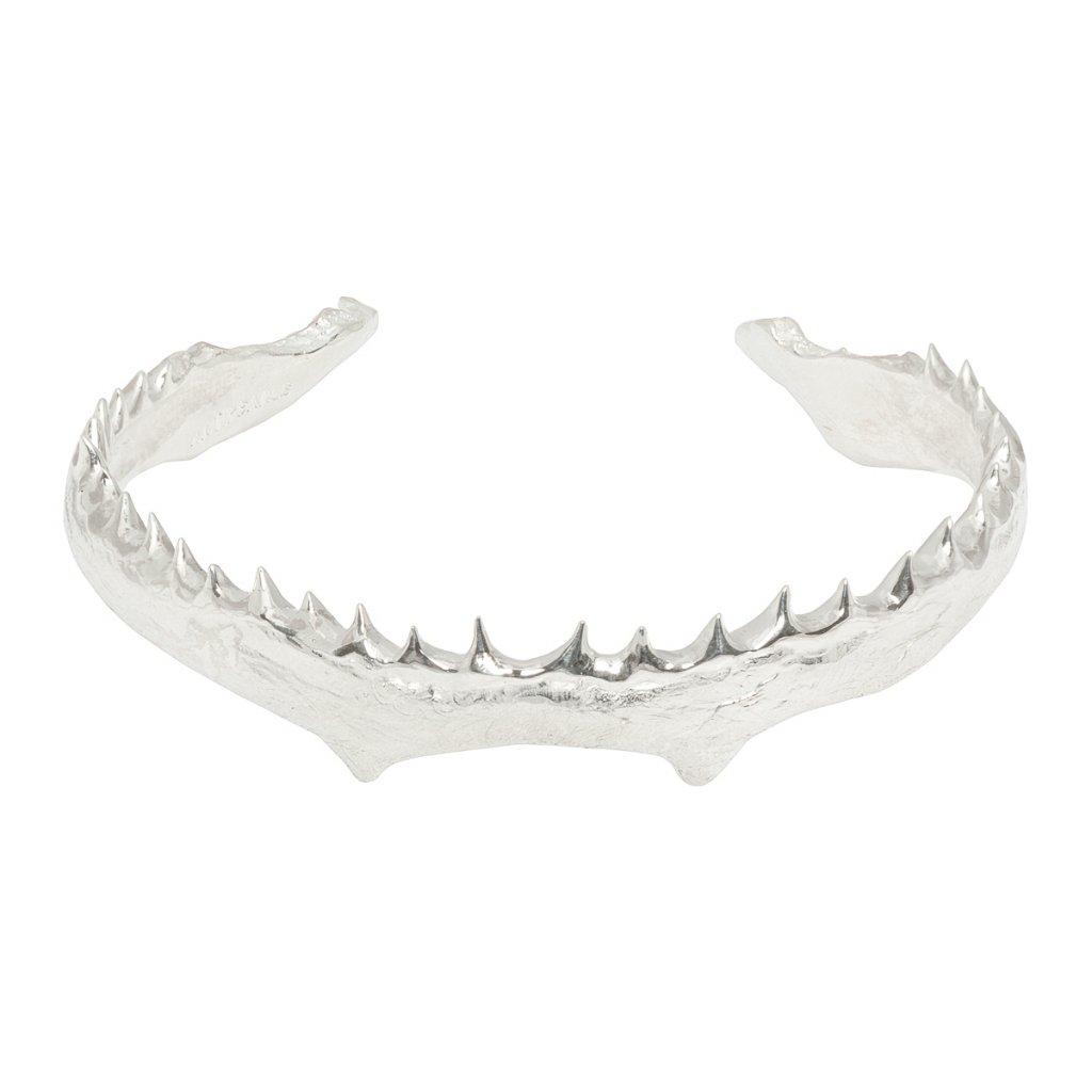 Jaw double pearl bracelet - silver
