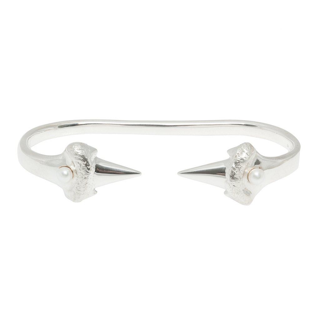 Blacktip palm bracelet - silver