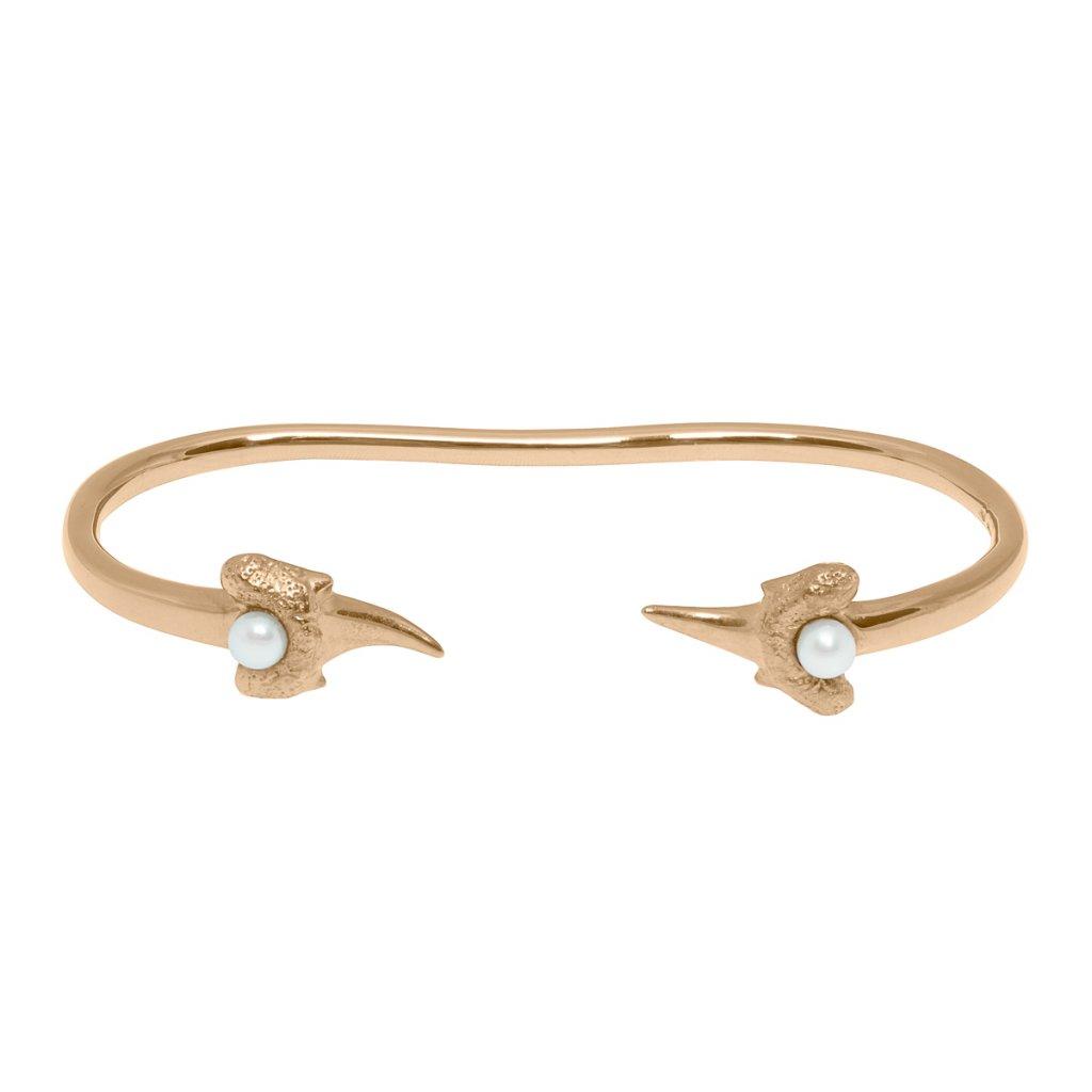 Zambezi palm bracelet - gold-plated silver