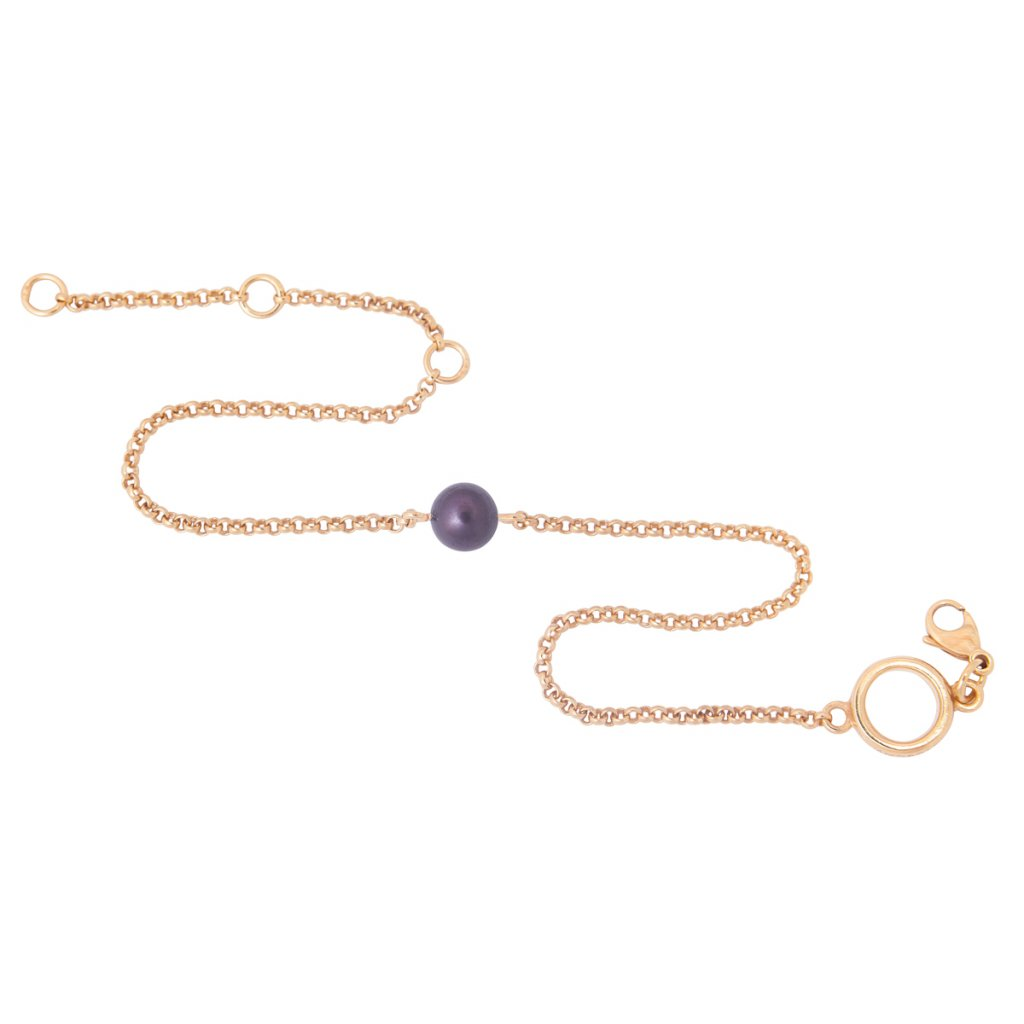 Pearl anklet - gold-plated silver