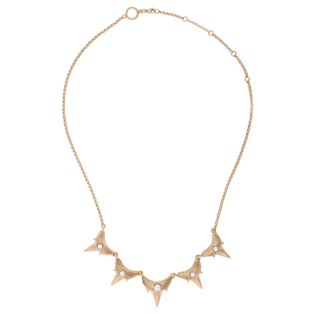 Shark teeth necklace S - gold-plated silver