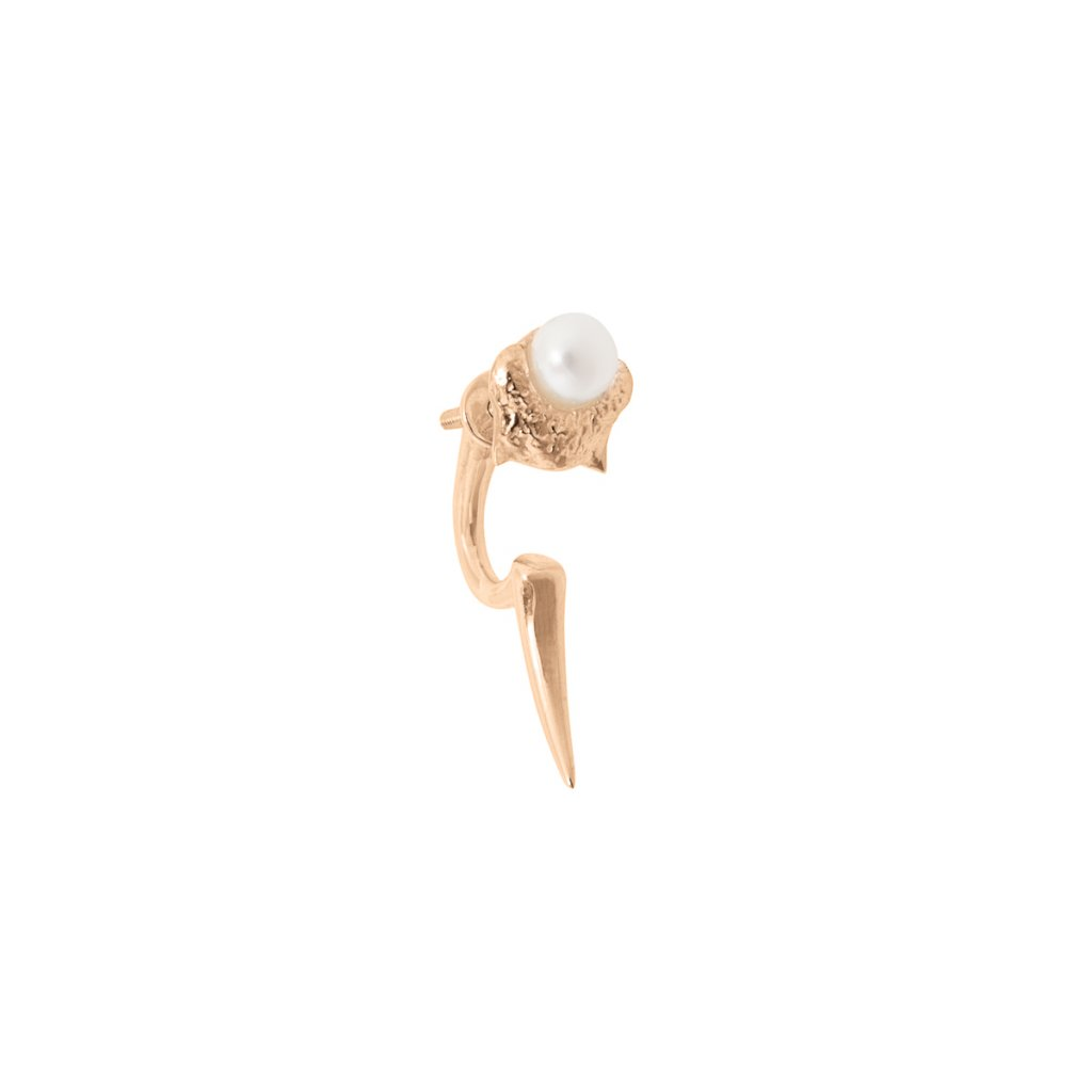 Mini blacktip earring - gold-plated silver