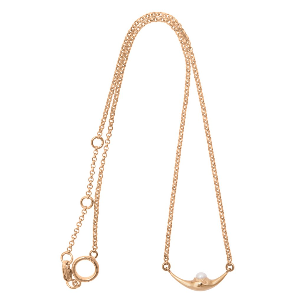 Mini fang necklace - gold-plated silver