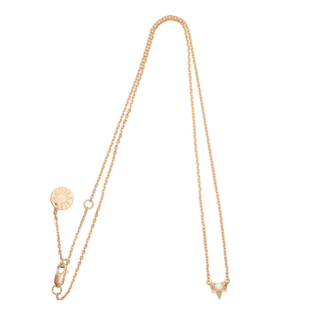 Petite A necklace - 14KT yellow Gold