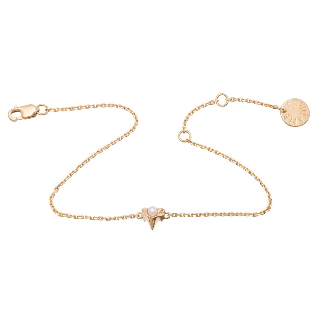 Petite A chain bracelet - 14kt yellow Gold