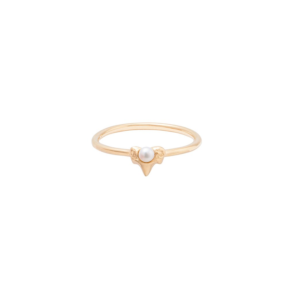 Petite A ring - 14KT yellow Gold