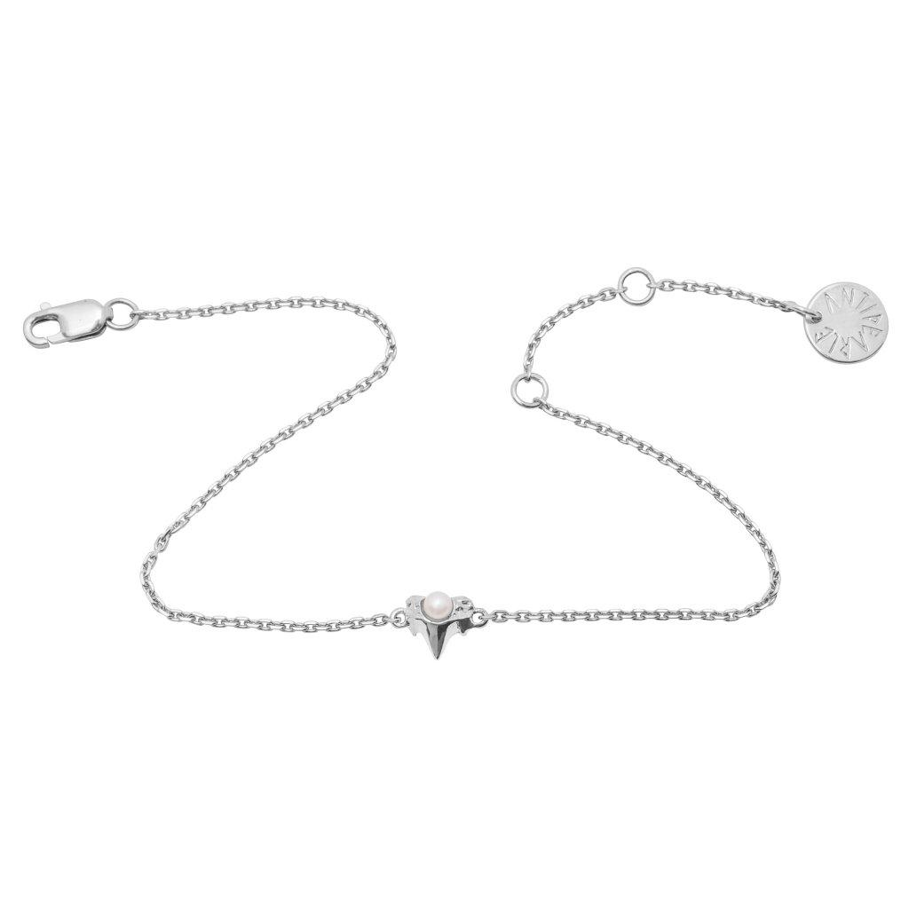 Petite A chain bracelet - 14kt White Gold