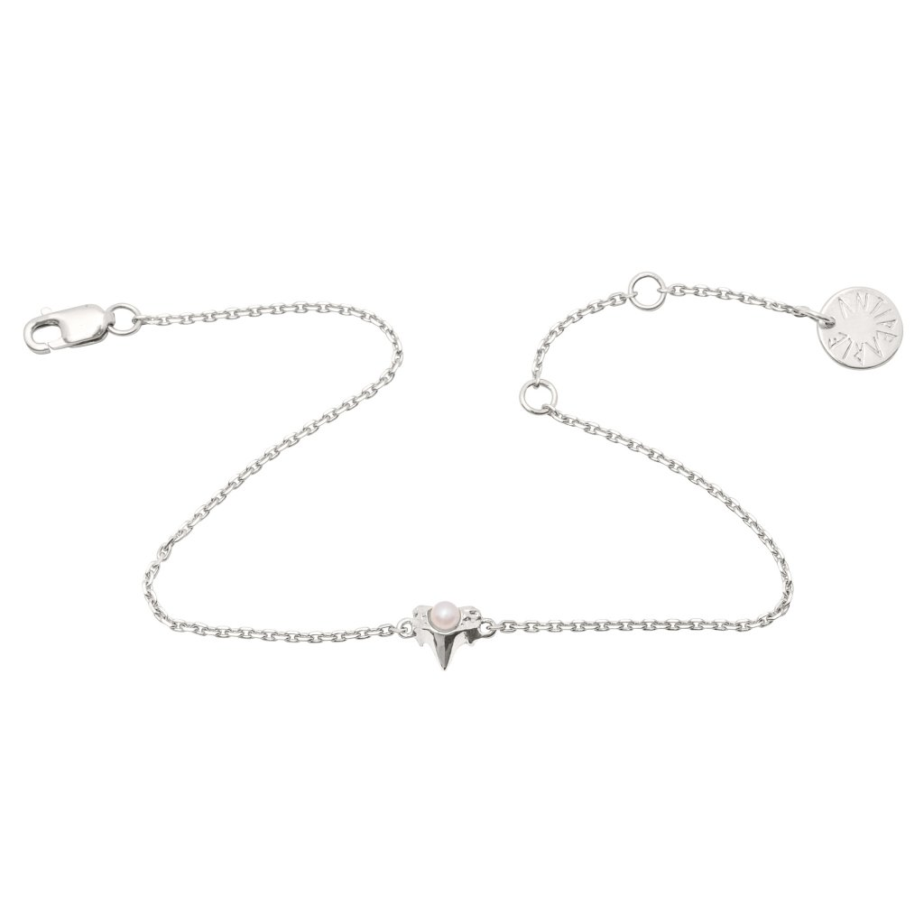 Petite A chain bracelet - Silver