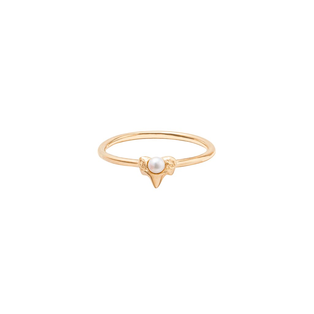 Petite A ring - gold-plated silver