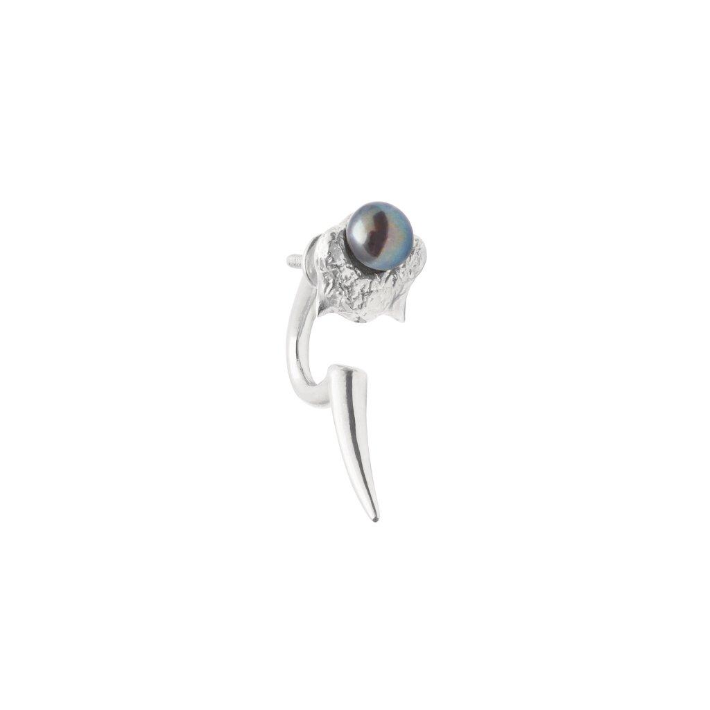 Mini blacktip earring - 14kt white gold