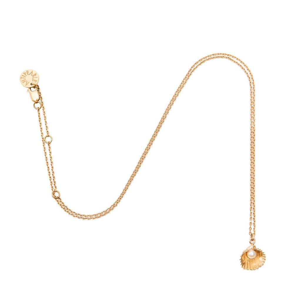 Concha pearl necklace mini A - gold-plated silver
