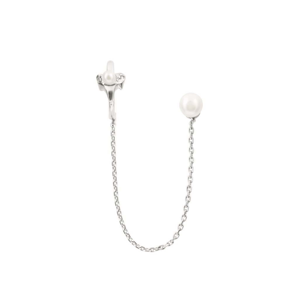 Petite A chain earcuff - silver