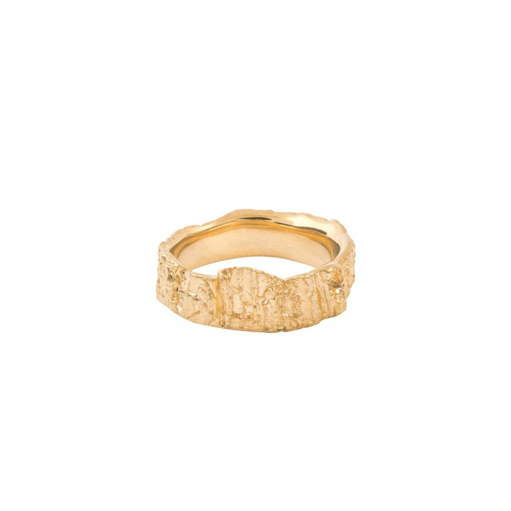 Aroha ring - 14kt yellow gold