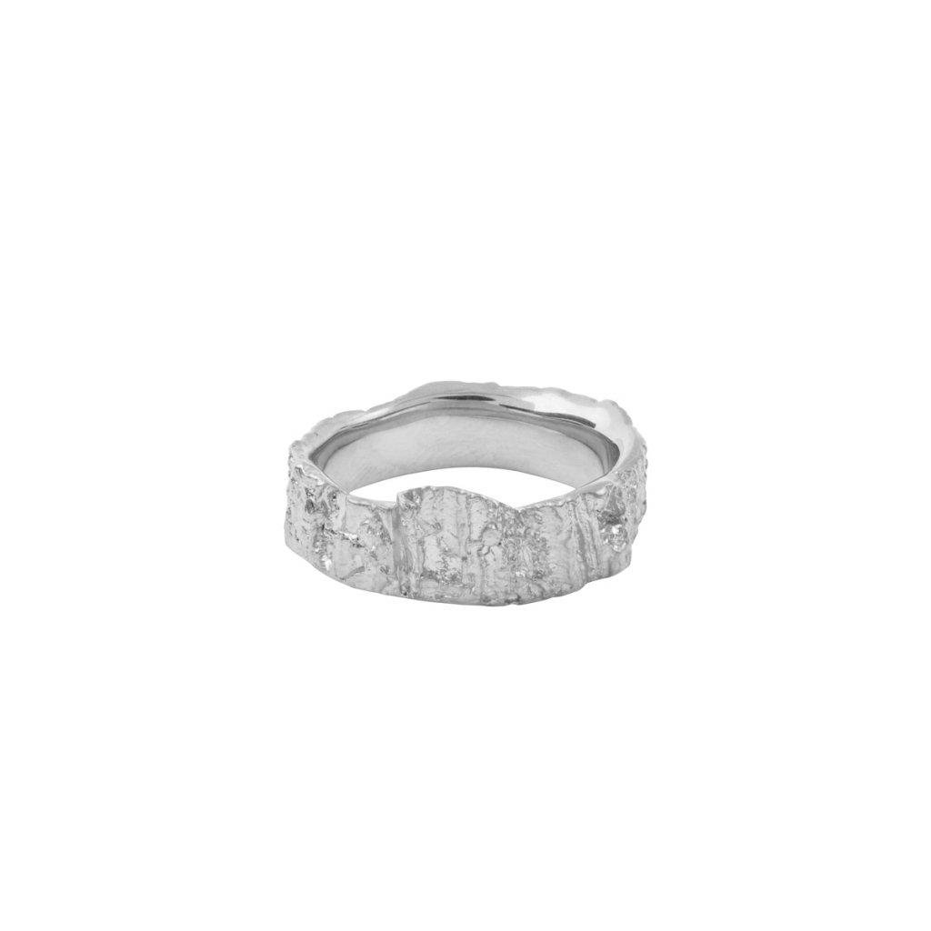 Aroha ring - 14kt white gold