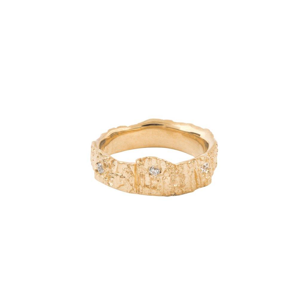Aroha ring brilliant - 14kt yellow gold