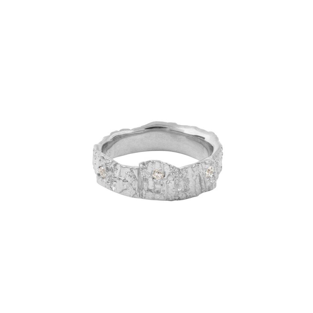 Aroha ring brilliant - 14kt white gold