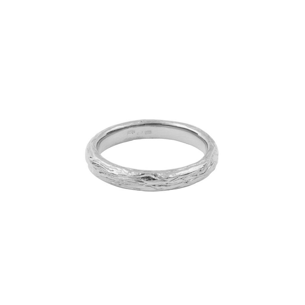 Ást ring - 14kt white gold