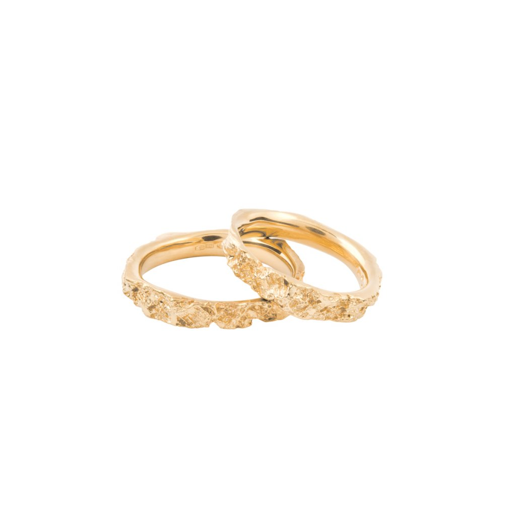 Agapi wedding rings - 14kt yellow gold