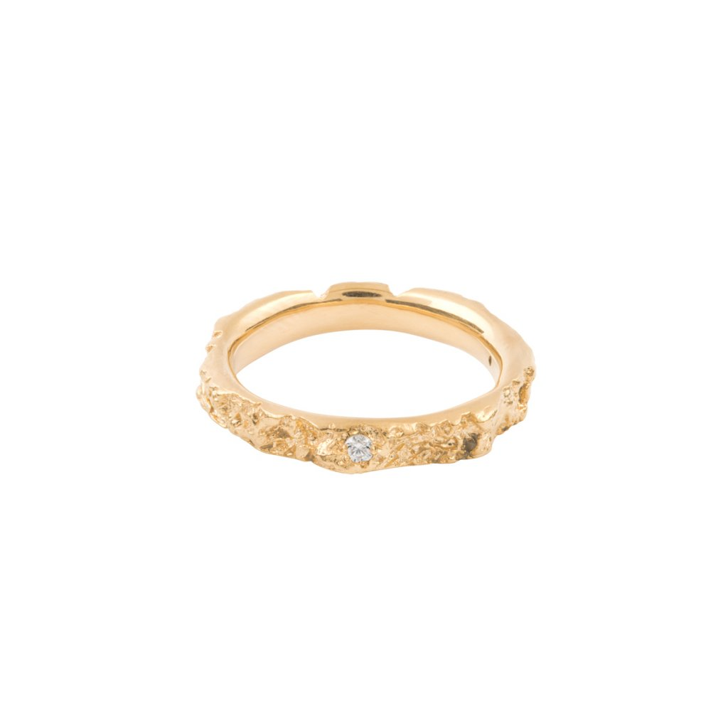 Agapi ring brilliant - 14kt yellow gold