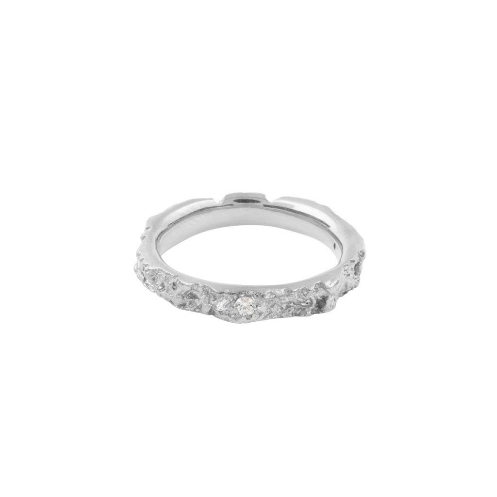 Agapi ring brilliant - 14kt white gold