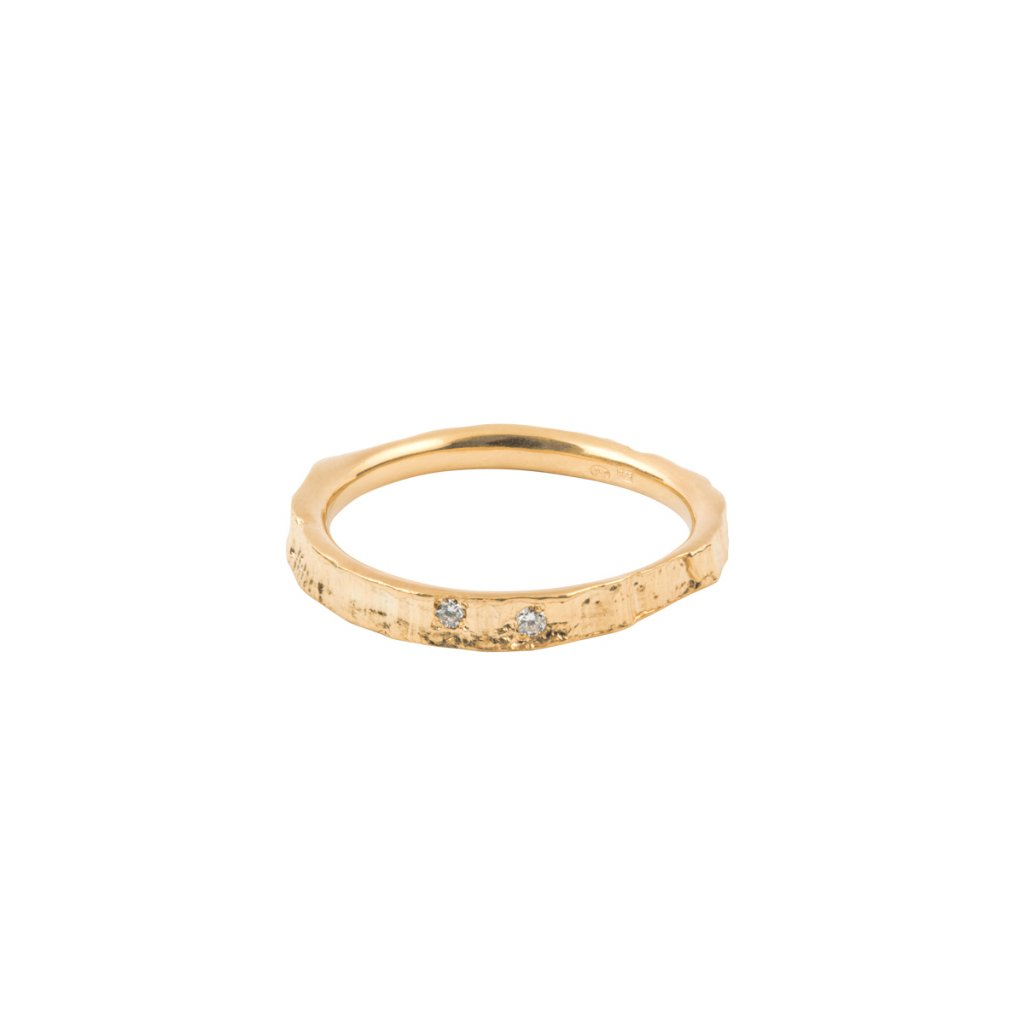 Amuri ring brilliant - 14kt yellow gold