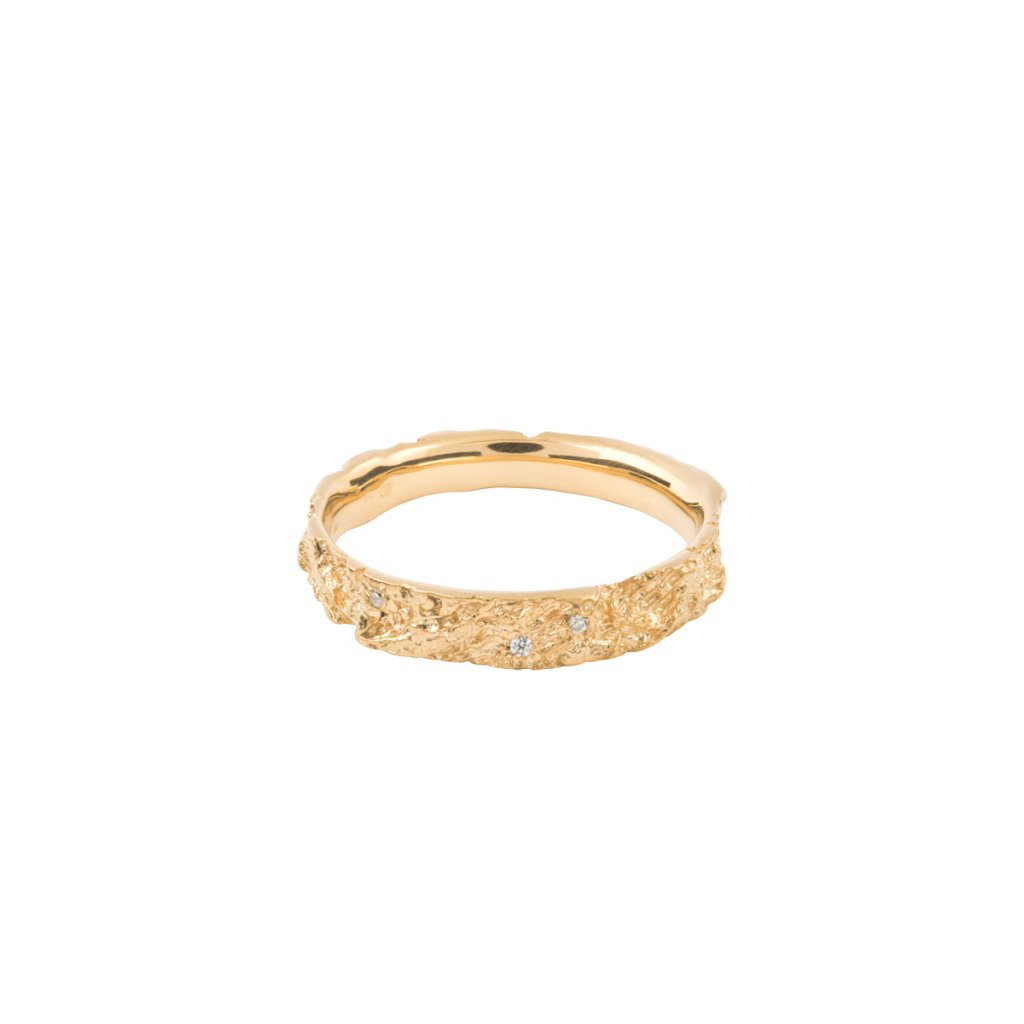 Amour ring brilliant - 14kt yellow gold
