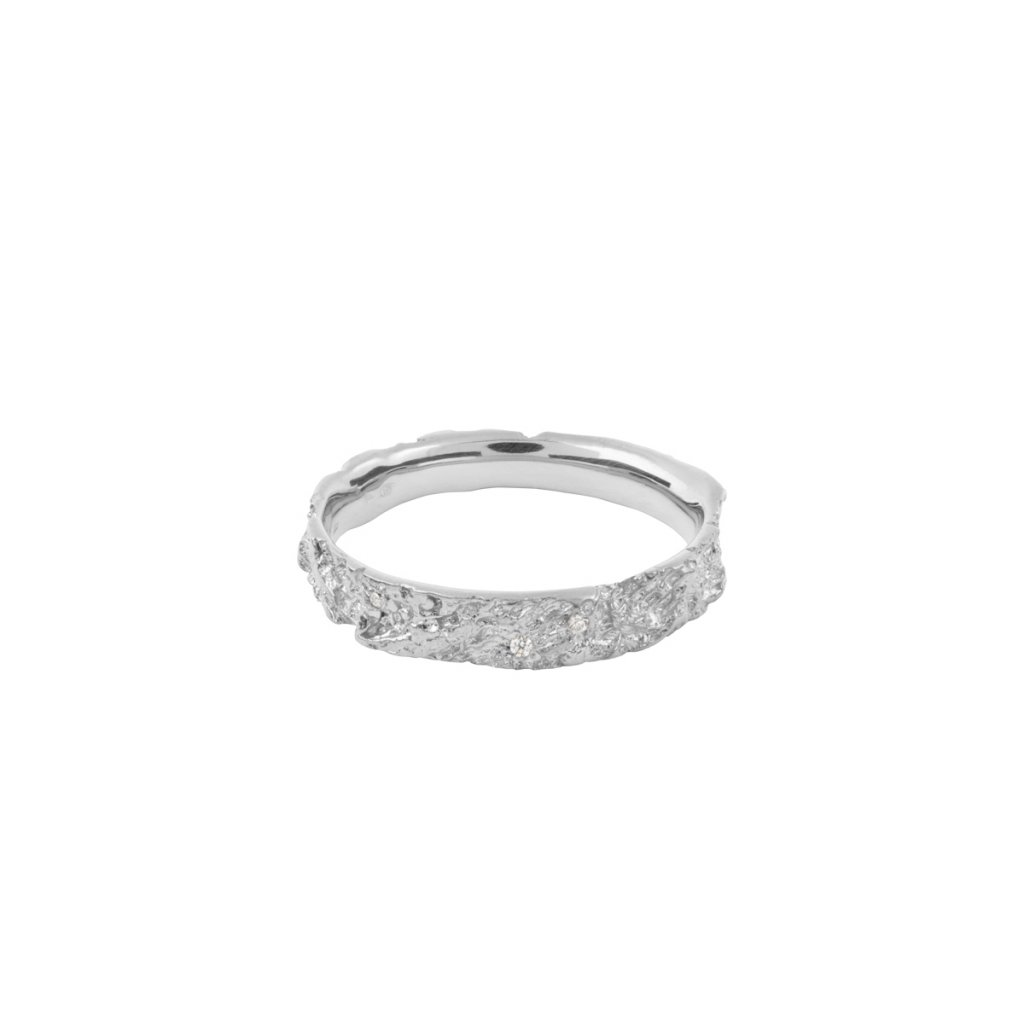 Amour ring brilliant - 14kt white gold