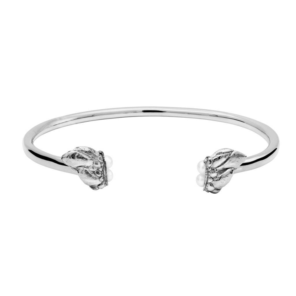 Lyra pearl bracelet - 14kt white gold