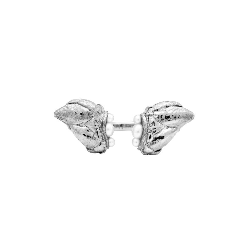 Lyra grand pearl ring - 14kt white gold