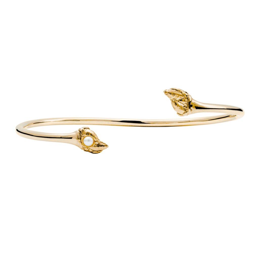 Maira pearl bracelet - 14kt yellow gold