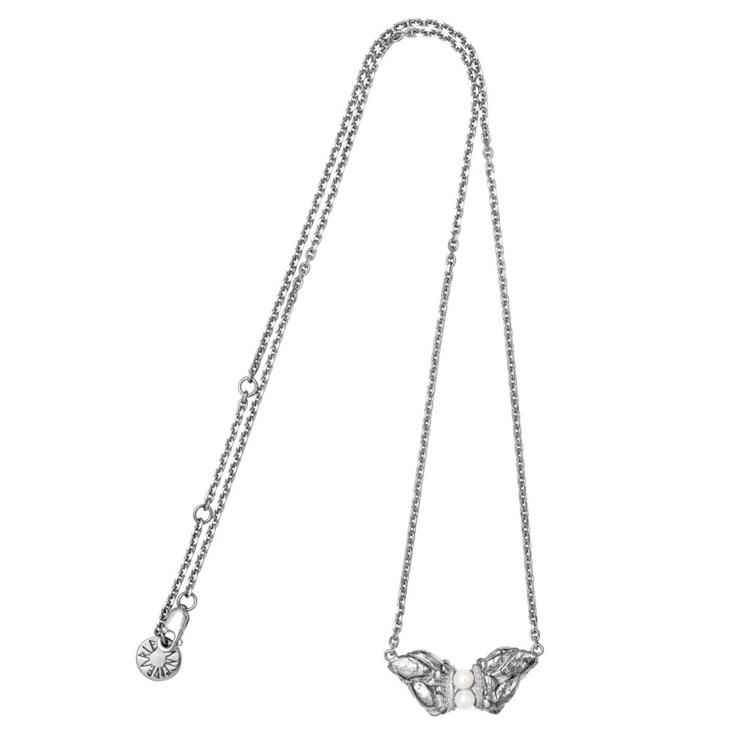 Naia grand pearl necklace - 14kt white gold