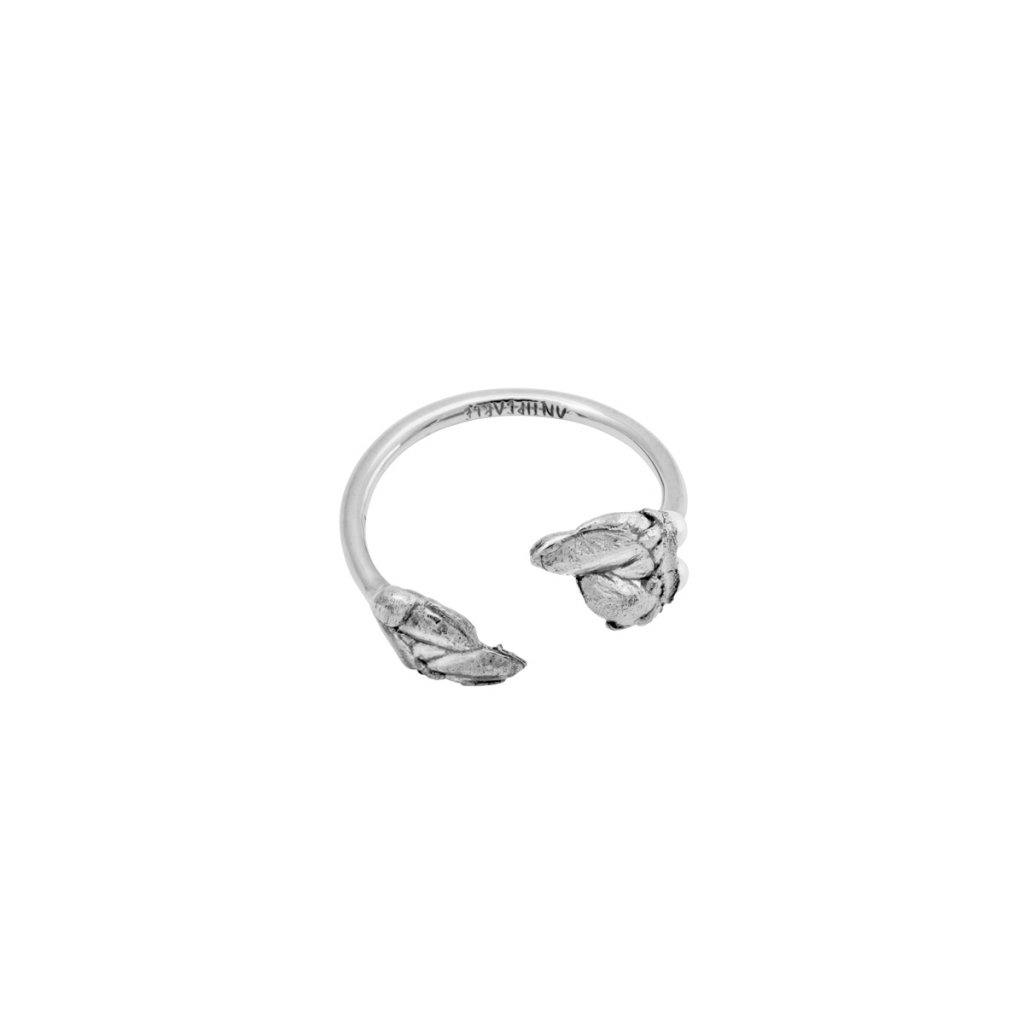 Halia pearl ring A - 14kt white gold
