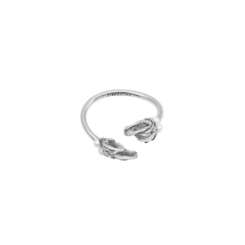 Halia pearl ring B - 14kt white gold