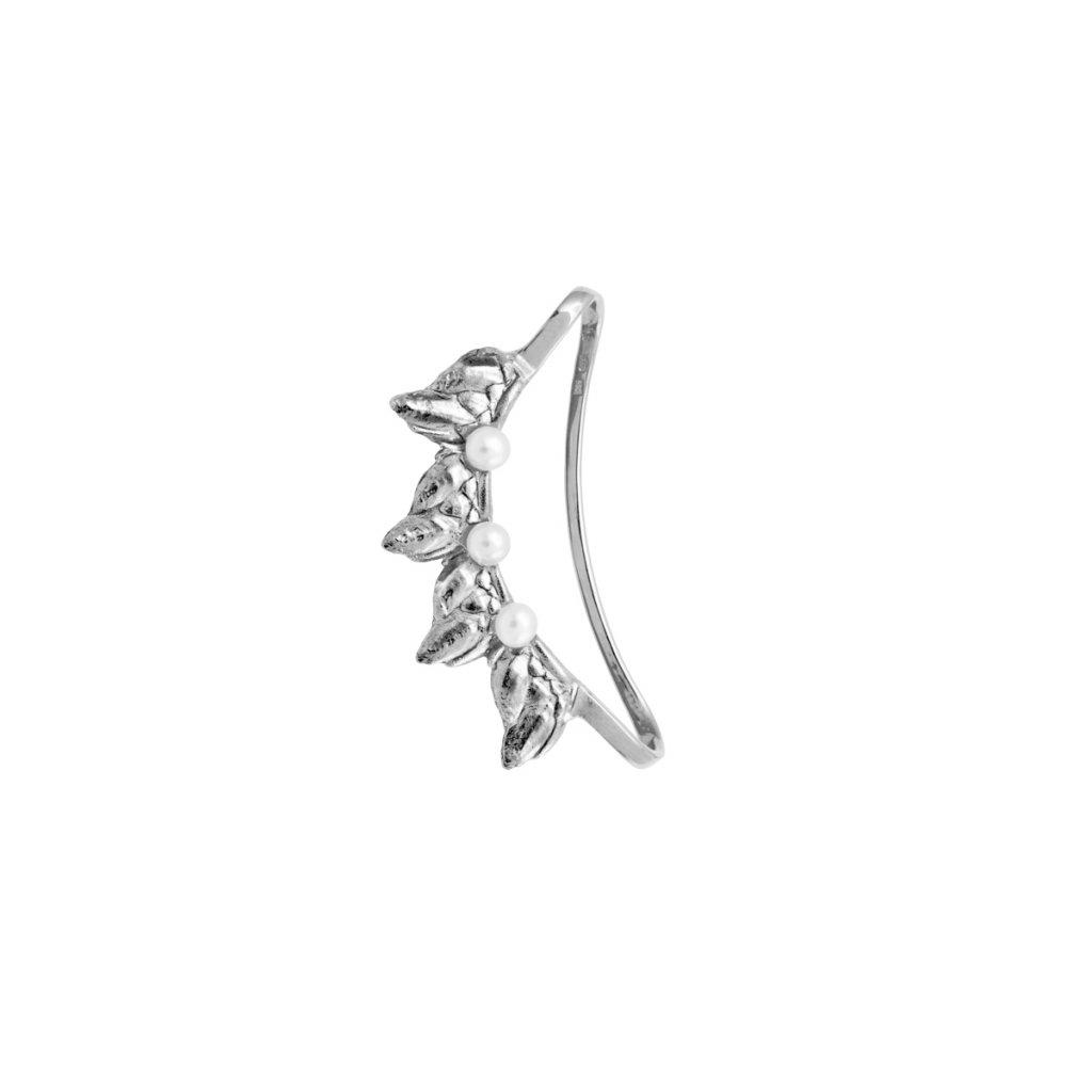 Sirene pearl earcuff - 14 kt white gold