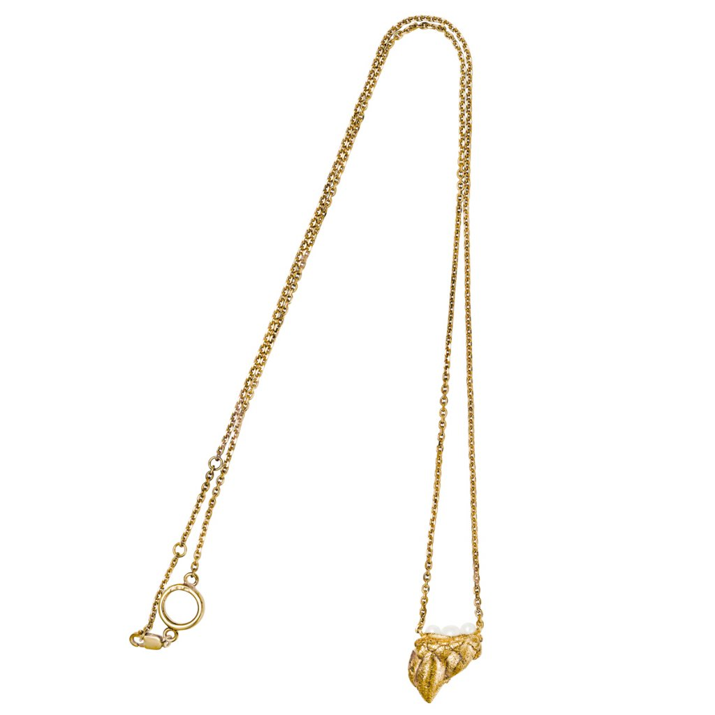 Ava grand pearl necklace - 14kt yellow gold