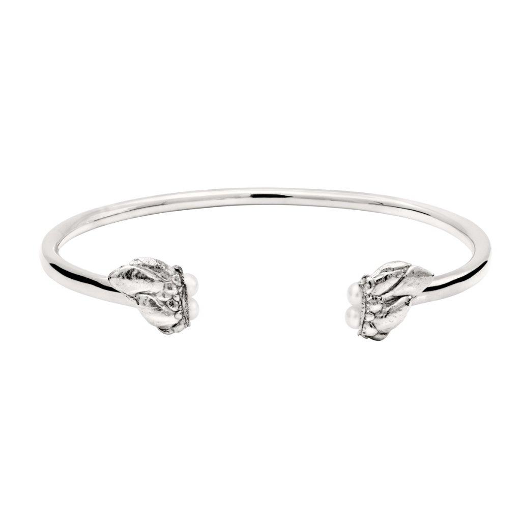 Lyra pearl bracelet - silver