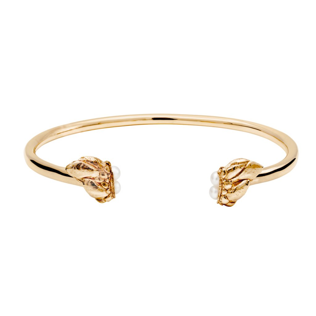 Lyra pearl bracelet - gold-plated silver