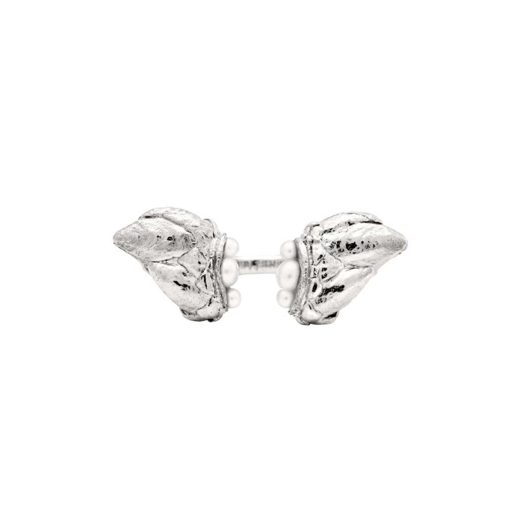 Lyra grand pearl ring - silver