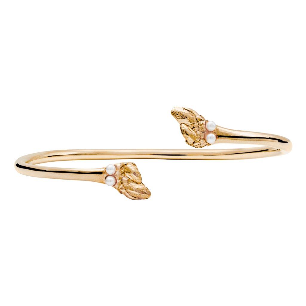 Maira multipearl bracelet - gold-plated silver