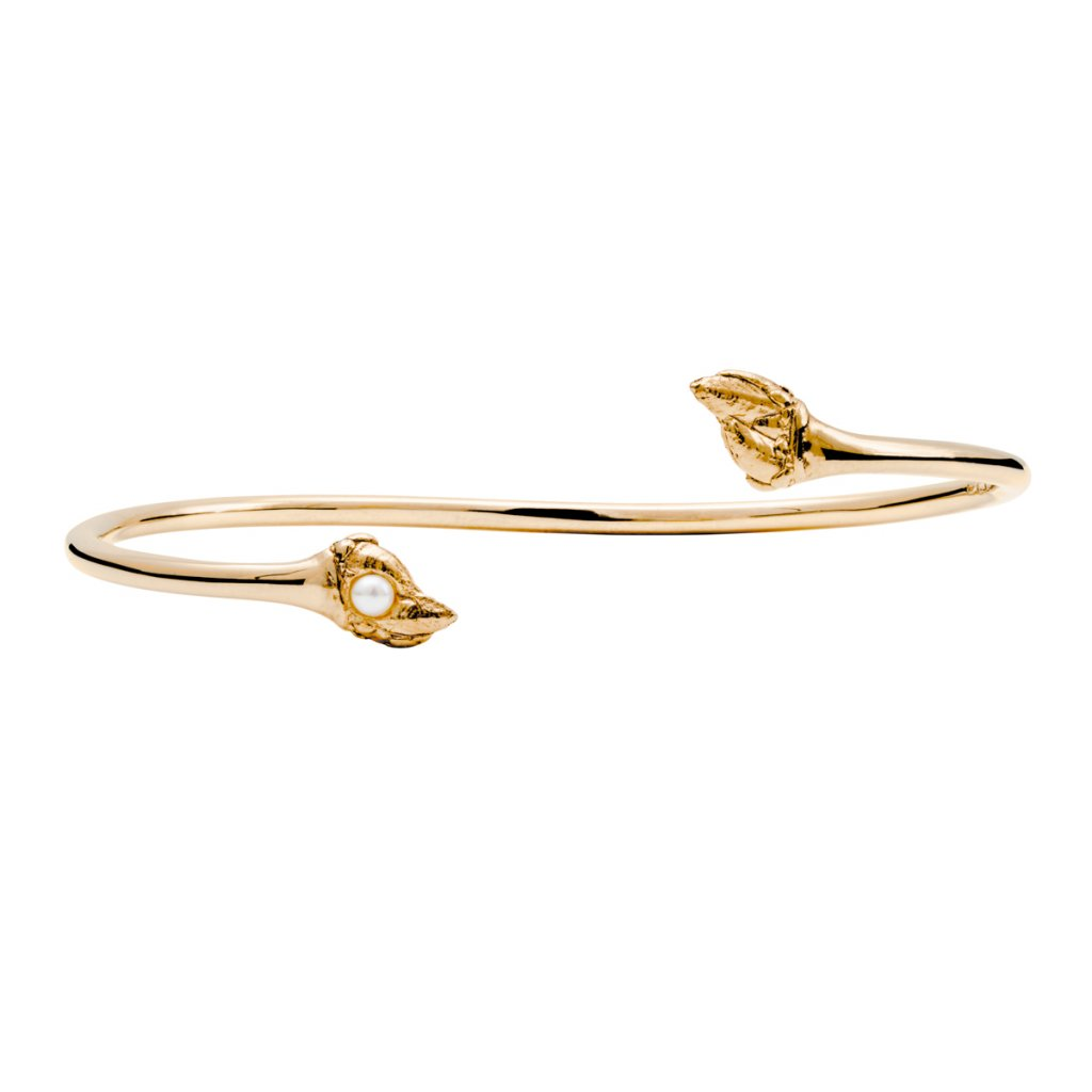 Maira pearl bracelet - gold-plated silver