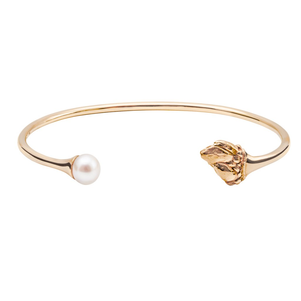 Halia pearl bracelet - gold-plated silver